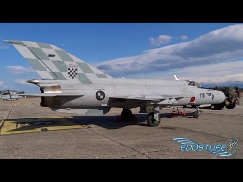 Croatian Air Force MiG-21 BIS & MiG-21 UM at Zemunik Air Base