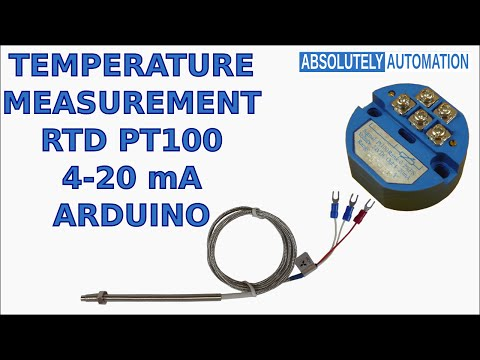 TEMPERATURE MEASUREMENT WITH RTD PT100 4-20 mA TRANSMITTER AND ARDUINO