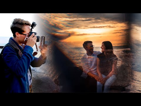 How To Take DRAMATIC Engagement Sunset Photography (Engagement Portraiture Tutorial)