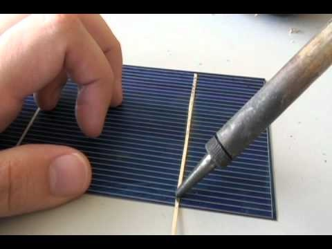 How to tab a Solar Cell