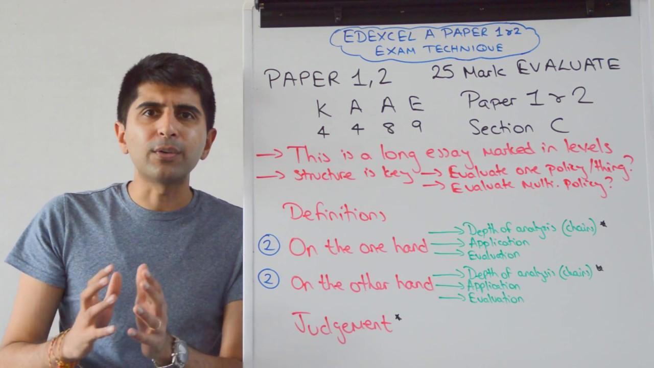 Economics essay structure