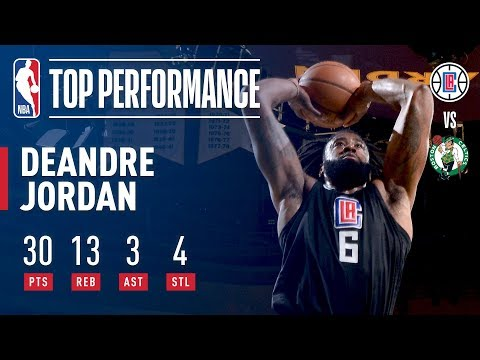 DeAndre Jordan Skies For 30 Points and 13 Boards in Boston | February 14, 2018