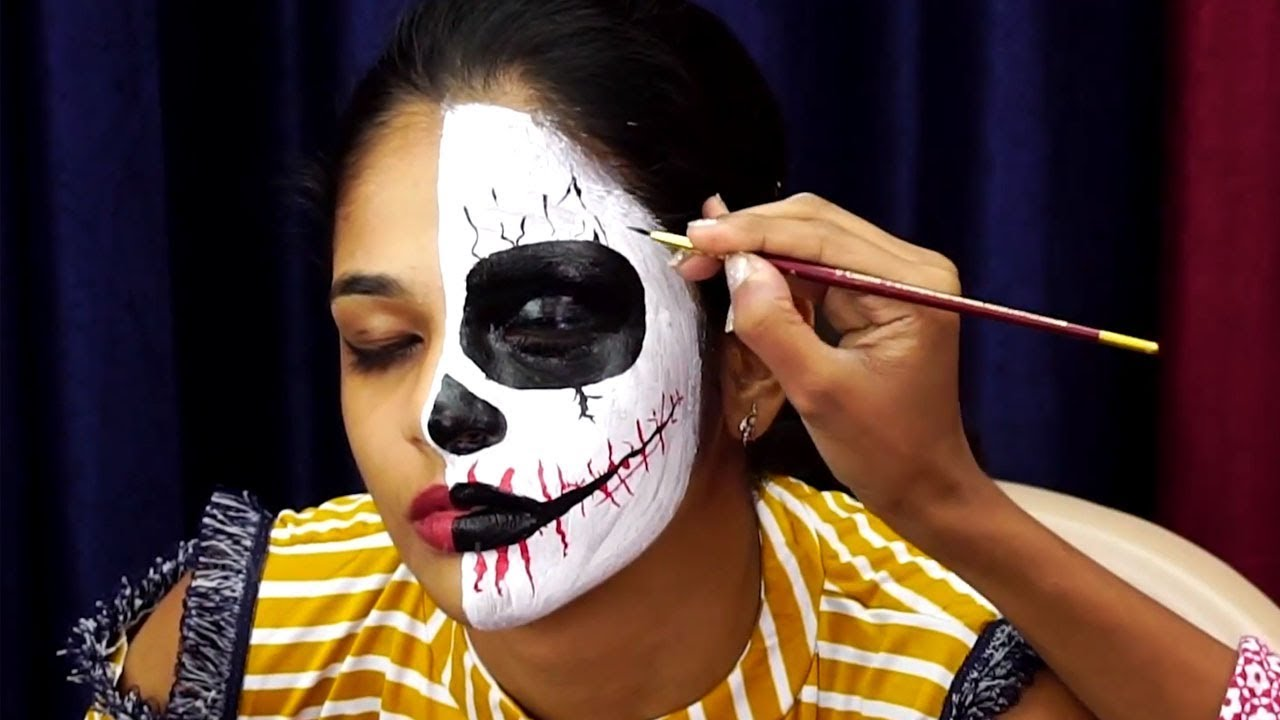 Face Painting Tutorial Horror Face Painting Halloween Face Painting Ideas How To Face Paint Youtube