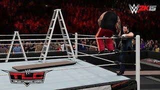 WWE 2K15 TLC 2014: Dean Ambrose vs Bray Wyatt - Tables, Ladders & Chairs Match! (MACHINIMA)
