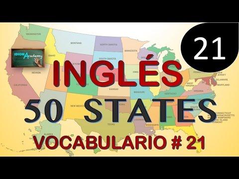 VOCABULARIO DE INGLES # 21(50 U.S STATE ABBREVIATIONS) - 50 estados de los Estados Unidos