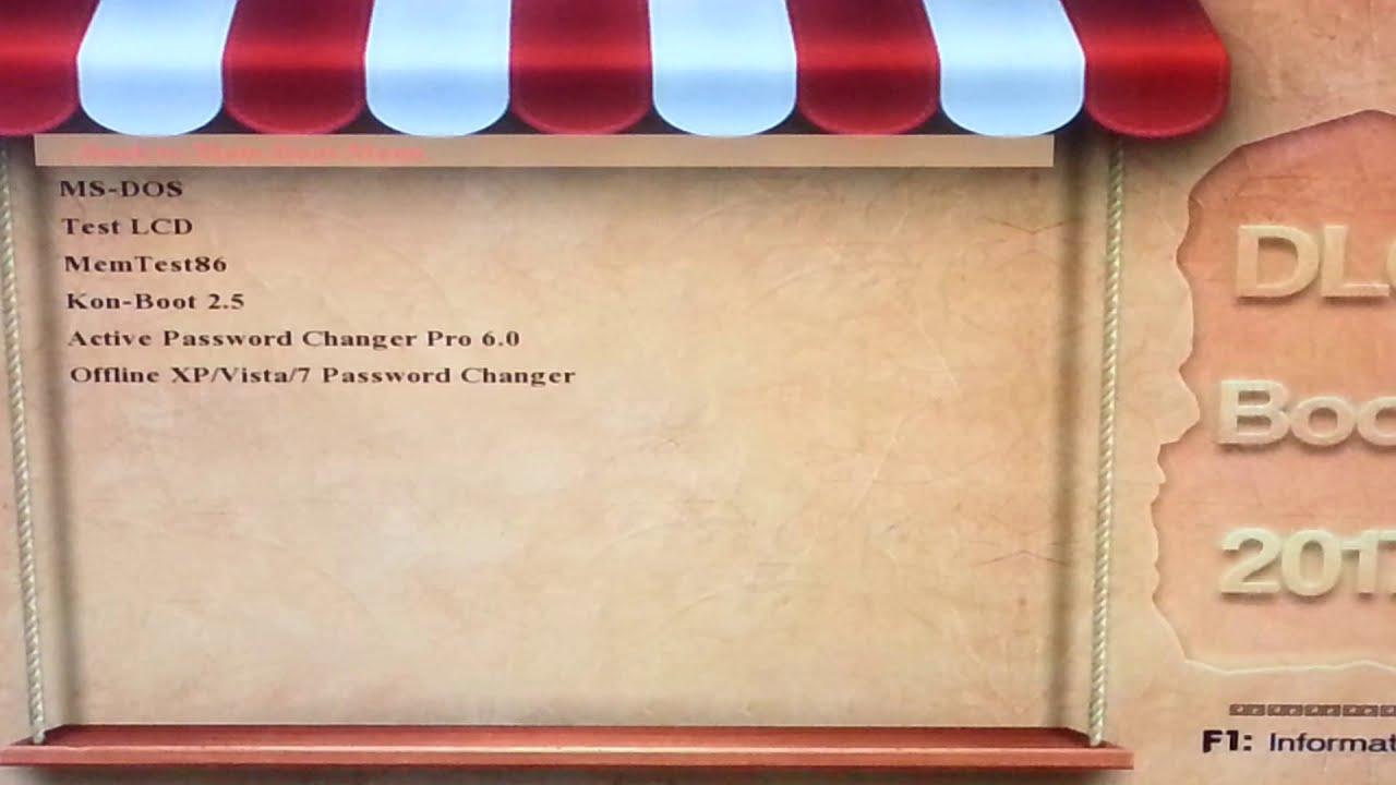 Cách xóa mật khẩu máy tính, gỡ Password Windows 10, 8, 7 đơn giản với USB Boot từ DLC Boot.