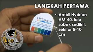 Hydrion AM-40 Ammonia Test Paper 0-100 PPM - Tes Kit Amonia - Teskit NH3 NH4 - Testkit Uji Cepat Amoniak Cairan
