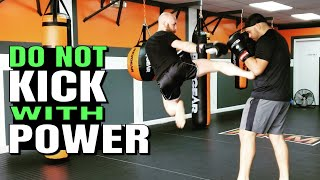Land More Kicks by Using LESS Power | Sparring Tips for Kickboxing, Muay Thai and MMA