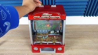 Münzschieber Automat mit echt Geld für zu Hause im Test! - Coin Pusher!