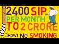 GET 2 CR in 20 years how to invest in sip mutual funds QUIT SMOKING