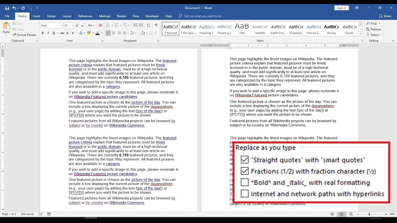Shortcut key to Remove All Hyperlinks in MS Word (2003-2016)