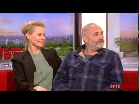The Bridge Sofia Helin Kim Bodnia  BBC Breakfast 2014