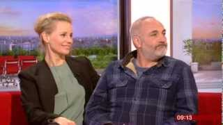 The Bridge Sofia Helin Kim Bodnia Interview BBC Breakfast 2014