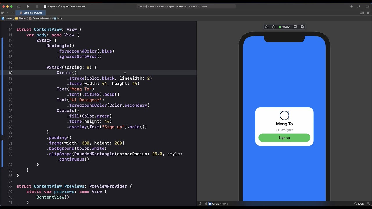 Shapes and Stroke in SwiftUI