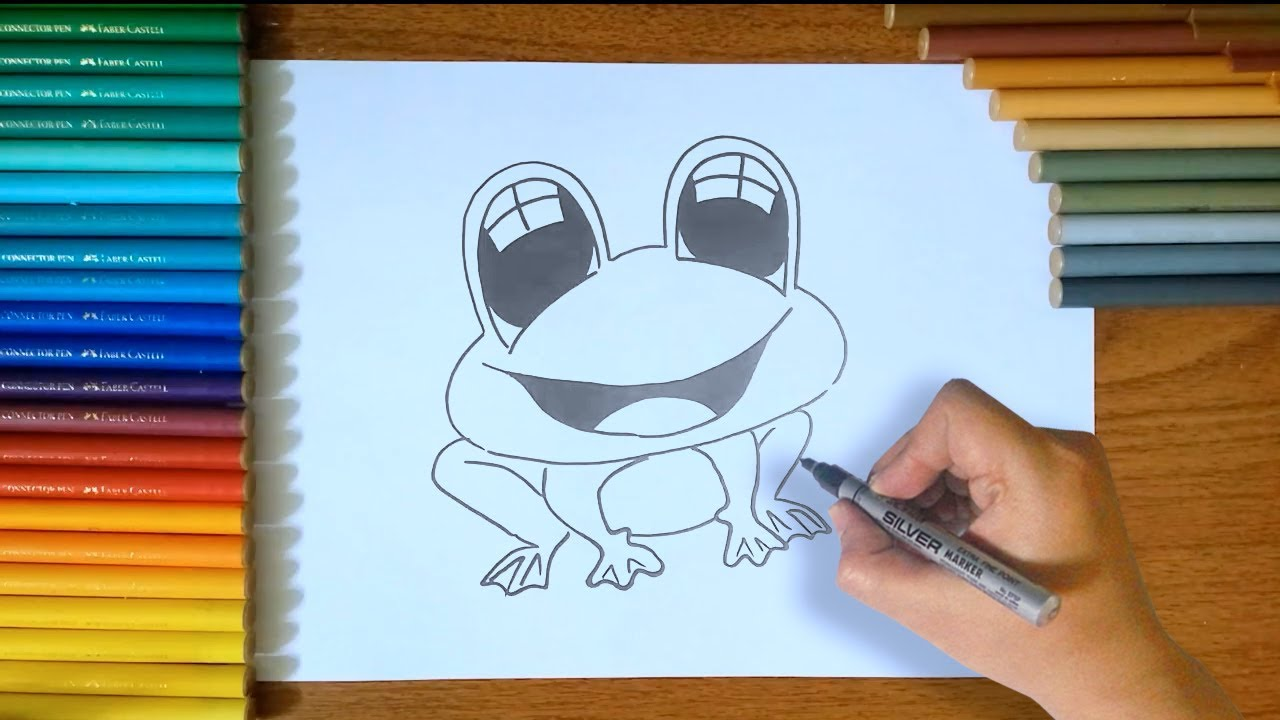 How To Draw a Frog step by step for Kids - YouTube