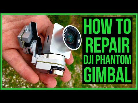 DJI Phantom 3 Broken Gimbal Repair After Crash #Drone