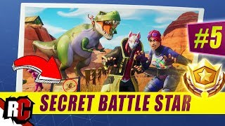 Secret Battle Star Emplacement WEEK 5 SEASON 5 Fortnite (Road Trip Challenge / Écran de chargement SEMAINE 5)