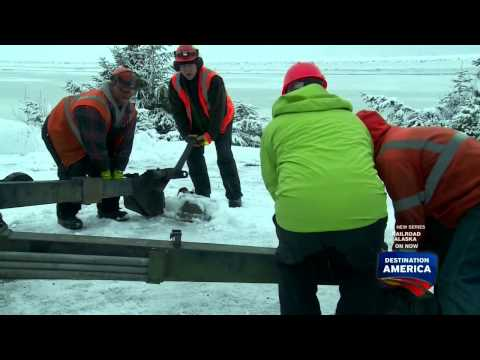 Railroad Crew Uses Howitzer CANNON to Trigger Huge Avalanche - Railroad Alaska