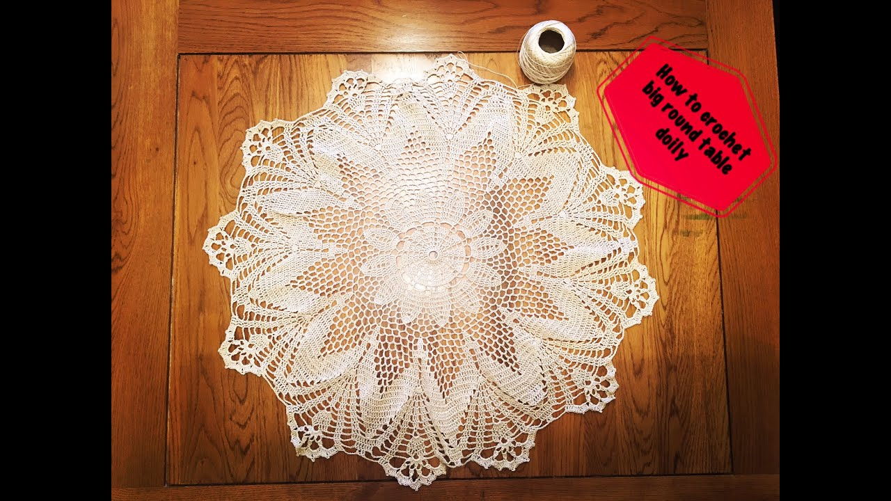 How to crochet big round table doily - Part 1 of 3 - YouTube