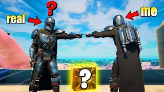 I Pretended to be MANDALORIAN in Fortnite... again