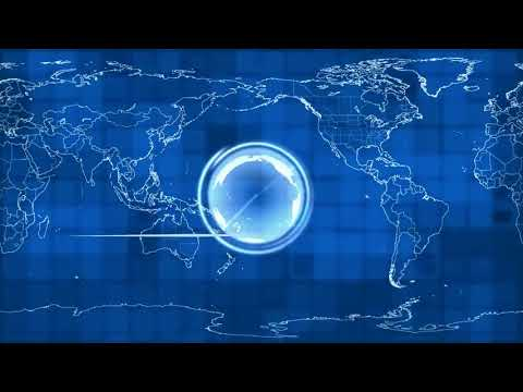 Video background blue 6 7   Map Of The World News Global International Earth   Free stock footage