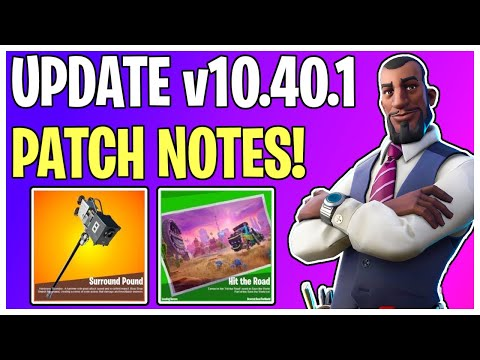 NEW Boombox Hammer & Hit The Road Loading Screen! V10.40.1 Patch Notes | Fortnite Save The World