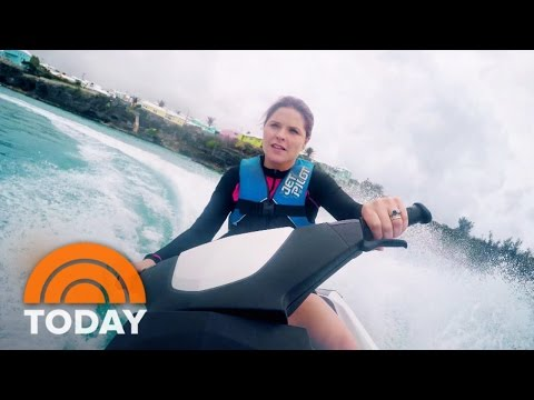 Jenna's Bermuda Adventure: Jet Skiing, Snorkeling, Cliff Jumping | TODAY