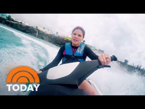 Jenna's Bermuda Adventure: Jet Skiing, Snorkeling, Cliff Jumping | TODAY