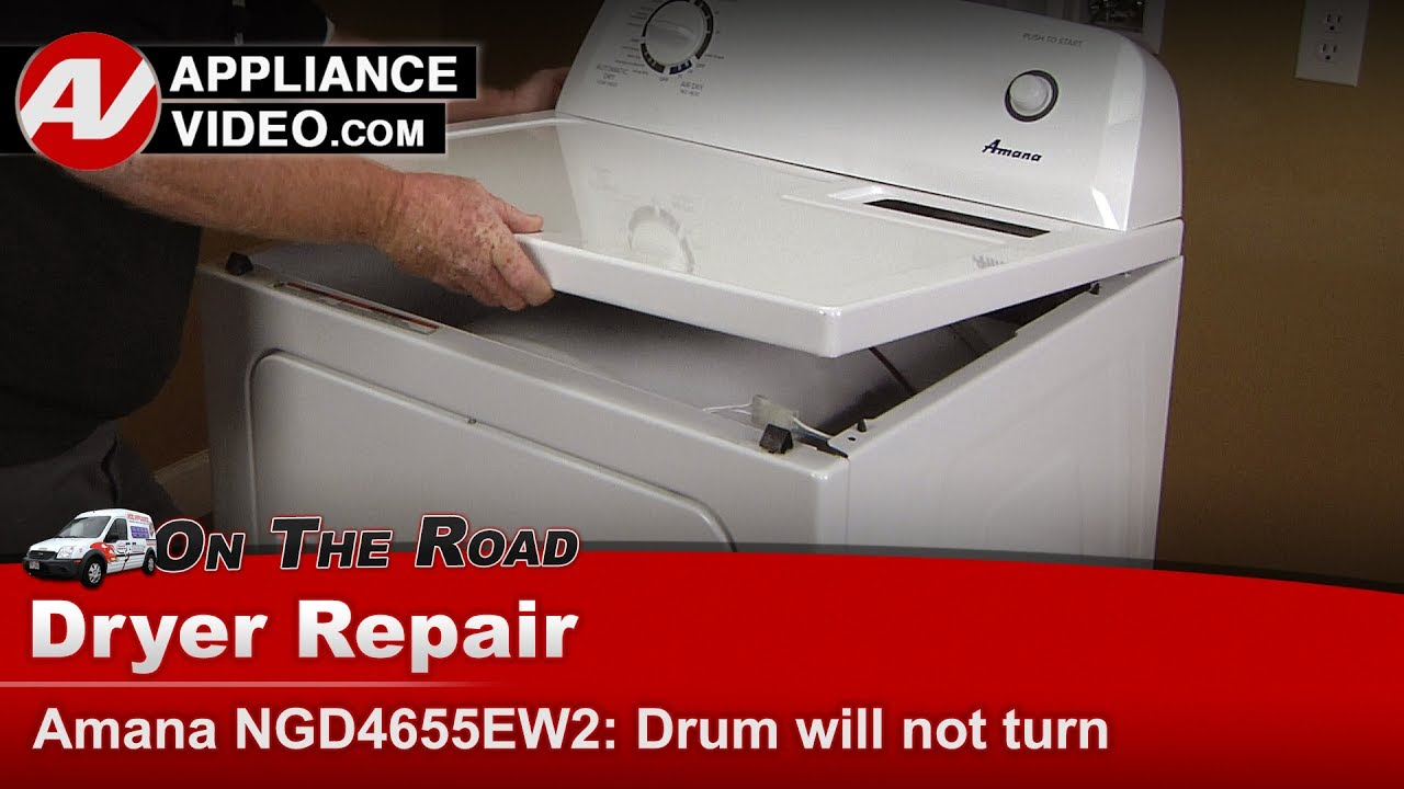 Amana Whirlpool Kenmore Dryer Drum Will Not Turn Diagnostic Maytag Belt Replacement Diagram Repair Ngd4655