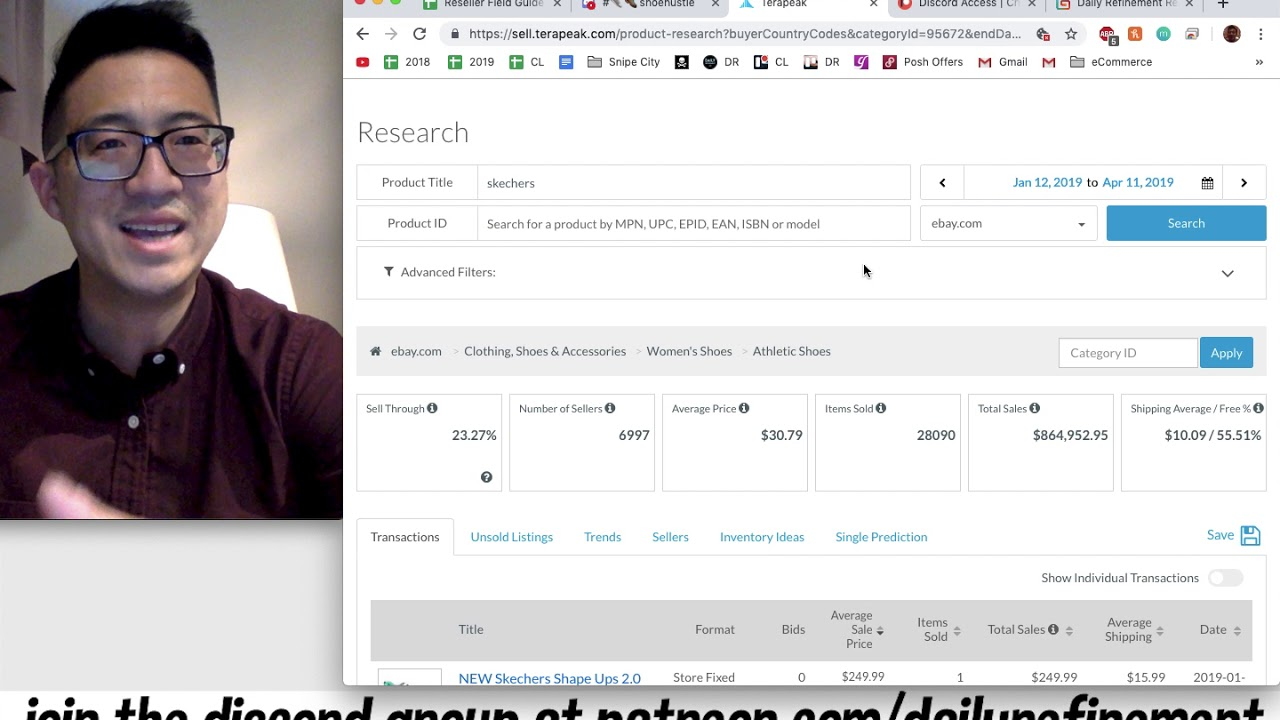 How I Research What To Sell on eBay Using Terapeak and a Live Example of My Guide