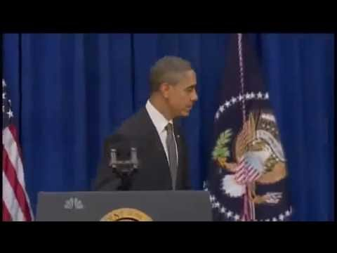 Furious Barack Hussein Obama Kicks Door