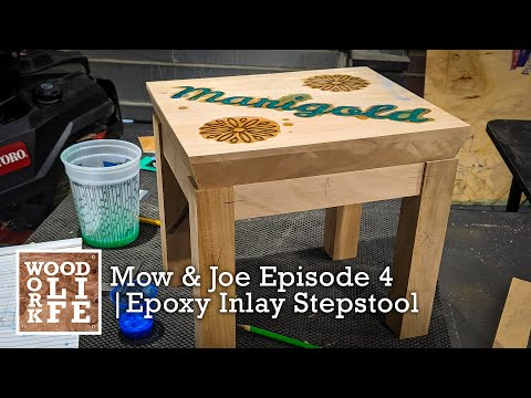 morning-mow-&-joe-|-episode-4---epoxy-inlay-step-stool