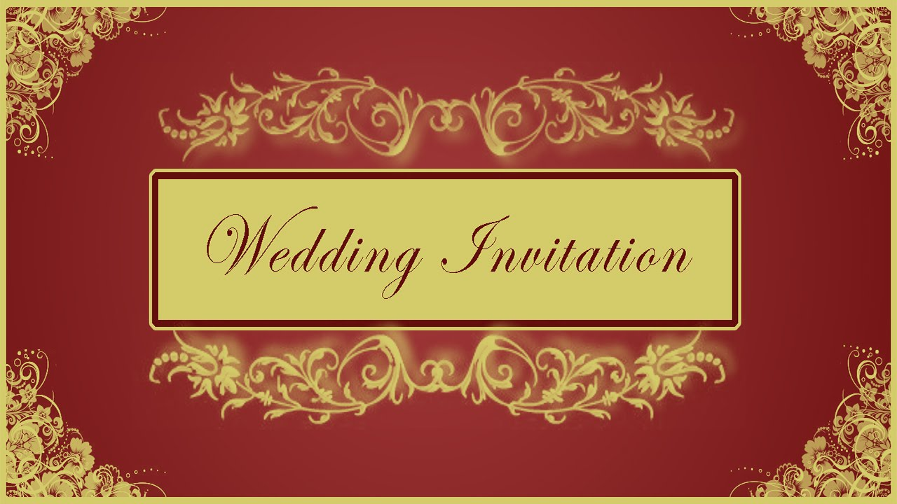 How to Design Wedding Invitation Card Front Page in Photoshop ( in ...
