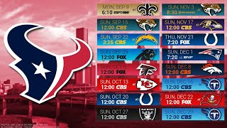 Houston Texans 2019 NFL Schedule Predictions/Outcomes