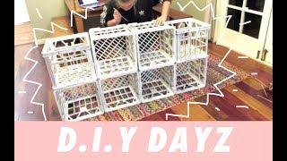 DIY Dayz | Milk Crate Storage Unit