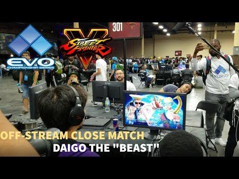 Daigo Facing Elimination Off-Stream EVO 2017 LIVE FOOTAGE   SFV Pools