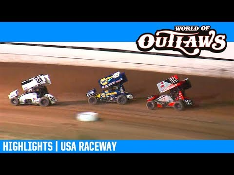 World of Outlaws NOS Energy Drink Sprint Cars USA Raceway April 5, 2019 | HIGHLIGHTS