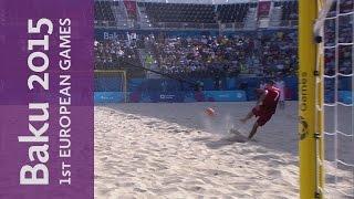 Madjer scores wonder goal | Beach Soccer | Baku 2015 European Games
