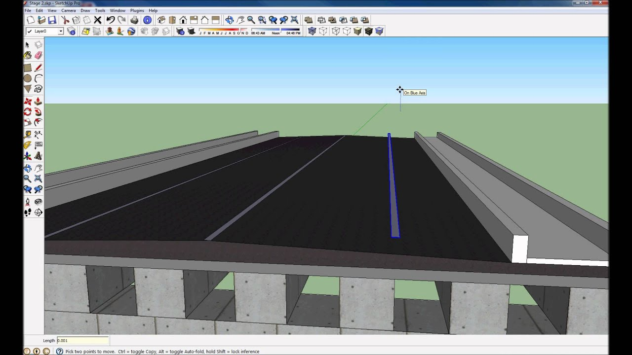 how to draw a bridge in sketchup