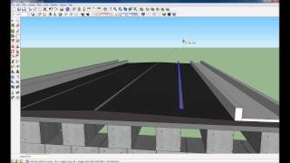 How to build a basic bridge using Google Sketchup