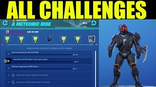 Fortnite - Metoric Rise Challenges & Rewards! Free SKIN! ALL CHALENGES