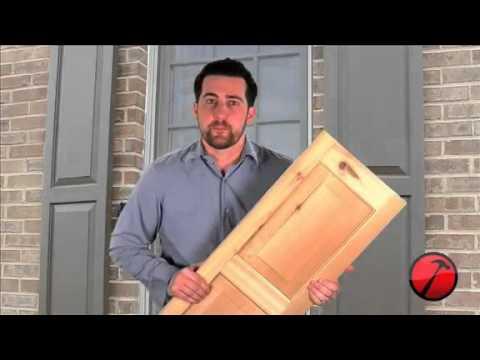 Raised Panel Wood Shutters