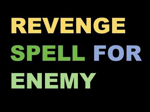 Cast Powerful Revenge Spell On Enemy To Make Your Enemy's Life Hell