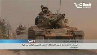 تركيا ترسل المزيد من دباباتها الى سوريا وتقصف وحدات حماية الشعب الكردي