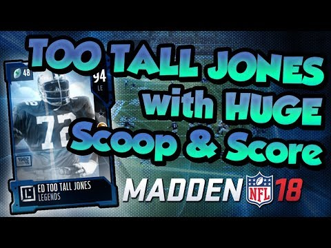 """Madden 18 Ultimate Team :: Scoop And Score By Ed """" Too Tall """" Jones! :: Madden 18 Ultimate Team"""