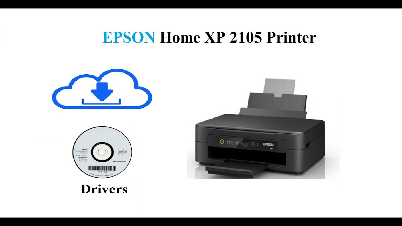 Epson Home xp 2105 | Download drivers - YouTube