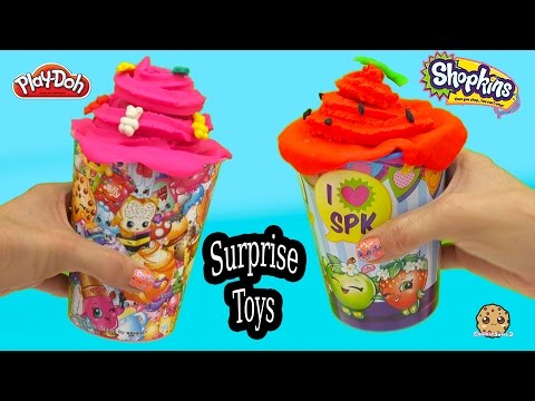 Playdoh Treat Shopkins Cups Filled With Surprise Mystery Blind Bag Toys - Cookieswirlc