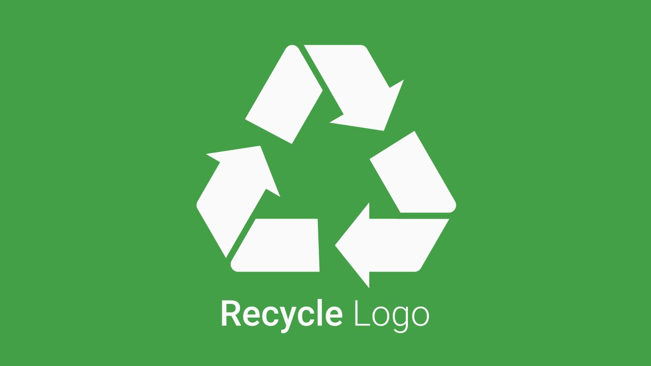recycle vector logo tutorial in inkscape youtube