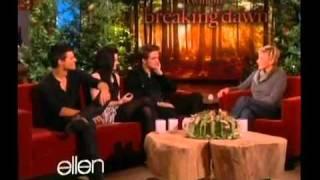 Breaking Dawn Cast on Ellen 11 18 11 Part 1