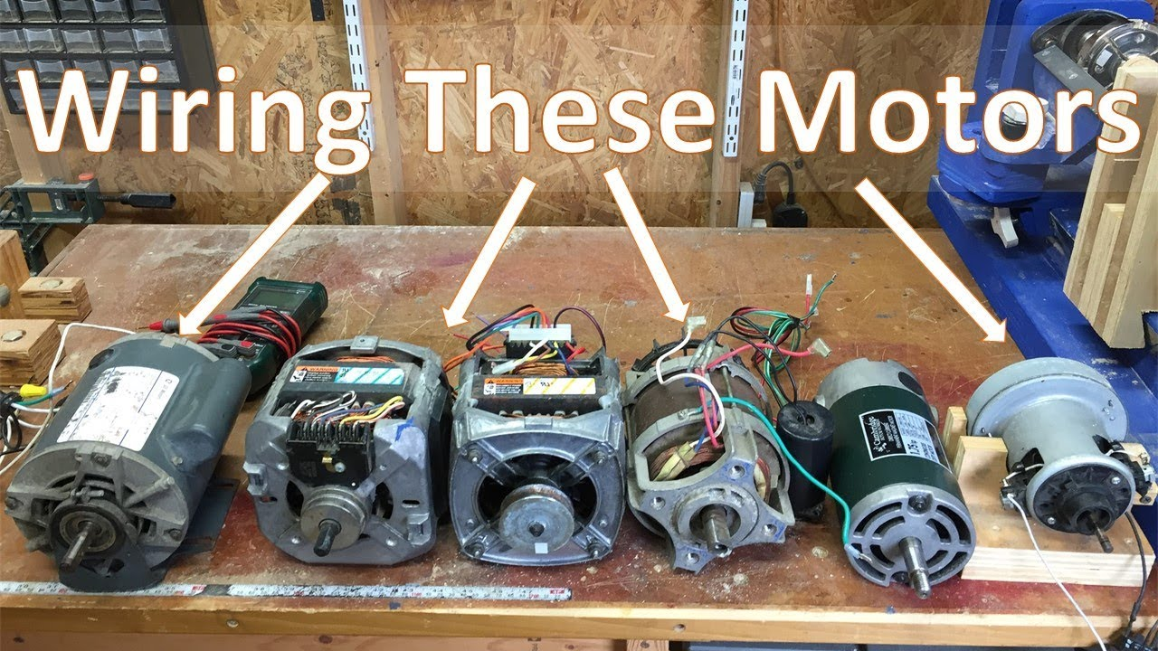 How To Wire Most Motors For Shop Tools and DIY Projects: 031 Washing Machine Volt Motor Wiring Diagram on